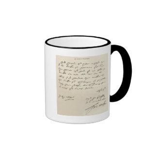 Letter from Sir Francis Drake Ringer Mug