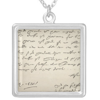 Letter from Sir Francis Drake Silver Plated Necklace