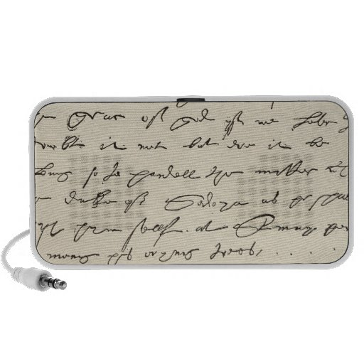 Letter from Sir Francis Drake Laptop Speakers