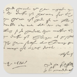 Letter from Sir Francis Drake Stickers