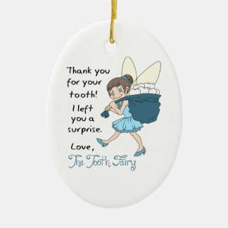 LETTER FROM TOOTH FAIRY CERAMIC OVAL DECORATION
