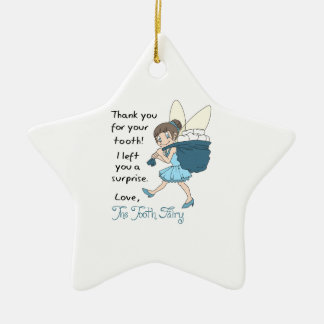LETTER FROM TOOTH FAIRY CERAMIC STAR DECORATION