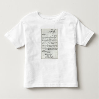 Letter from William IV to Lady Nelson Toddler T-Shirt