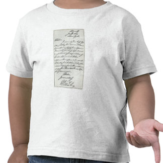 Letter from William IV to Lady Nelson Tee Shirt