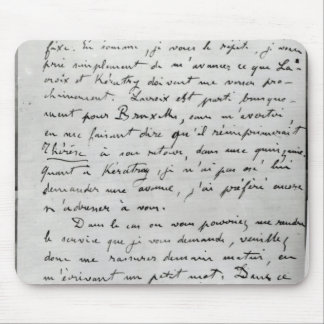 Letter from Zola to Edouard Manet  1868 Mousepad