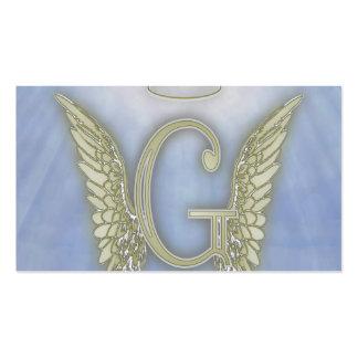Letter G Angel Monogram Pack Of Standard Business Cards