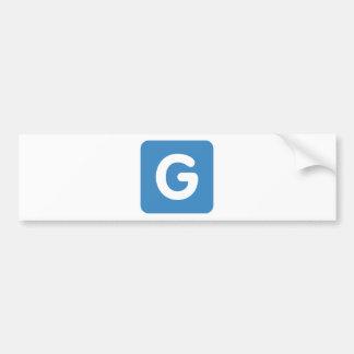 Letter G - emoji Twitter Bumper Sticker