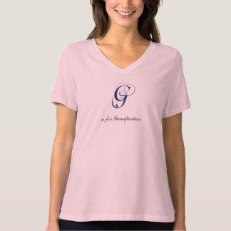 Letter G flourish gamification T-Shirt