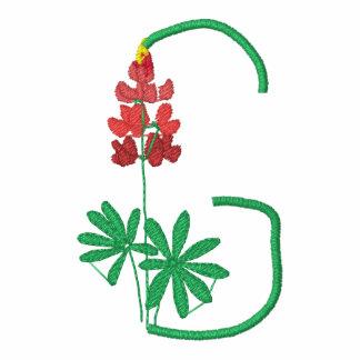 Letter G Flower Monogram Embroidered Shirt