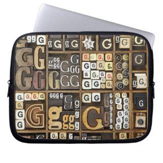 Letter G Laptop Sleeve