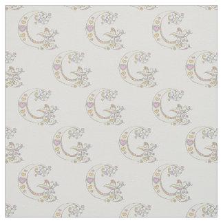 Letter G monogram decorative text custom fabric