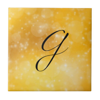 Letter G Small Square Tile