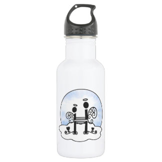 Letter H Alphabet Initial Monogram w Angel Clouds 532 Ml Water Bottle