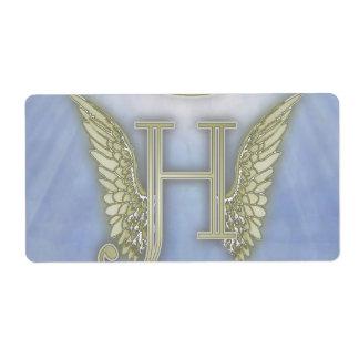 Letter H Angel Monogram