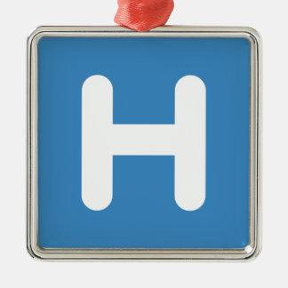 Letter H Emoji Twitter Christmas Ornament