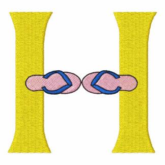 Letter H Flip Flops Monogram Embroidered Shirt