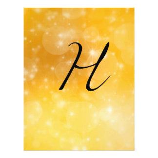 Letter H 21.5 Cm X 28 Cm Flyer