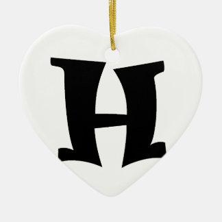 Letter H_large Christmas Ornament
