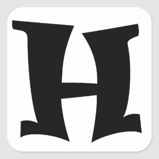 Letter H_large Square Sticker