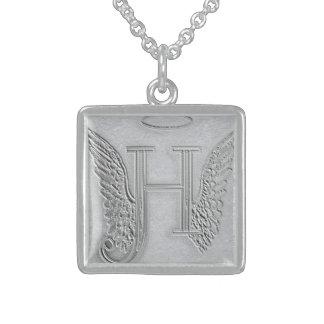 Letter H Memorial Monogram Necklace