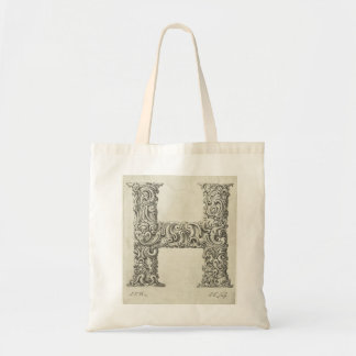Letter 'H' Monogram Budget Tote