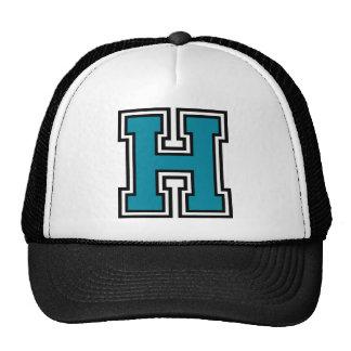"Letter ""H"" Monogram Hats"