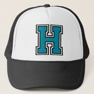"Letter ""H"" Monogram Trucker Hat"
