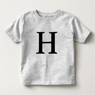 Letter H monogrammed initial t shirt