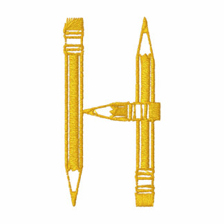 Letter H Pencil Monogram Embroidered Shirt