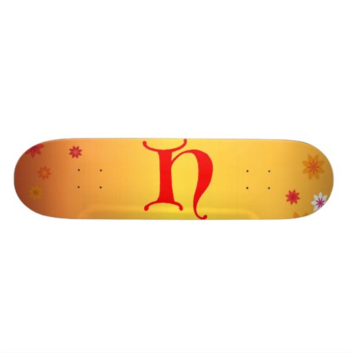 Letter H Skateboard