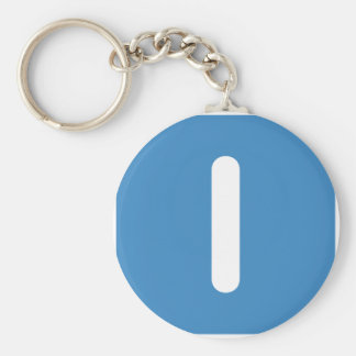 Letter I emoji Twitter Key Ring