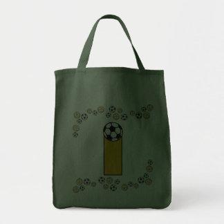 Letter I in Soccer Gold Monogram Tote Tote Bag