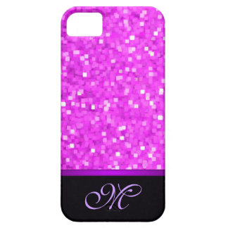 Letter Initial Pink Glitter Girly Mom Bling Cute iPhone 5 Cover