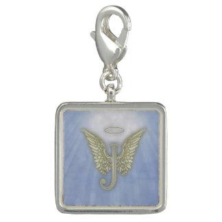 Letter J Angel Monogram Charm Bracelet