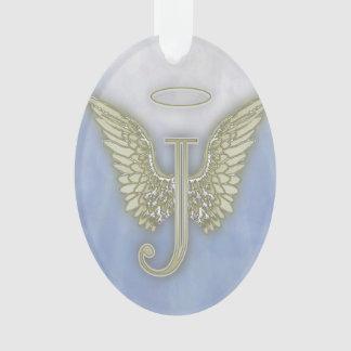 Letter J Angel Monogram Ornament