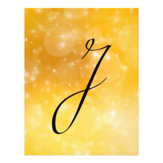 Letter J Personalized Flyer