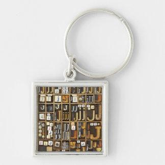 Letter J Key Ring