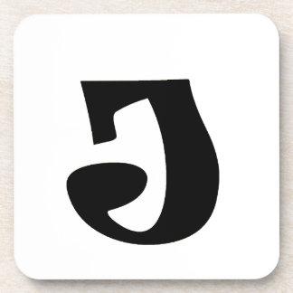 Letter J_large Beverage Coaster