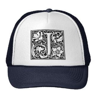 Letter J Medieval Monogram Vintage Initial Trucker Hat