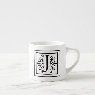 Letter J Monogram Espresso Mug