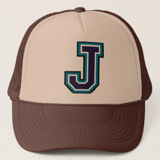 "Letter ""J"" Monogram Trucker Hat"