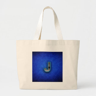 Letter J - neon blue edition Large Tote Bag