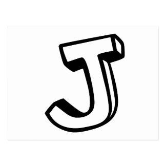 Letter J Post Card