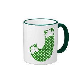 Letter J Ringer Mug