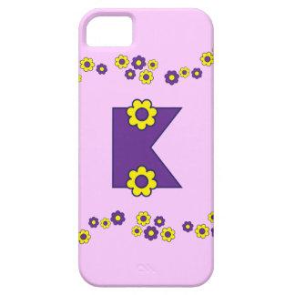 Letter K in Flores Purple Monogram