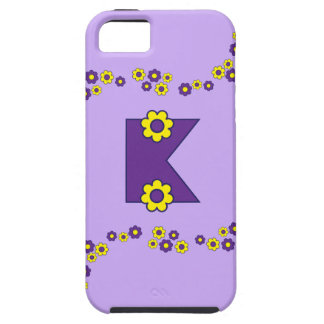 Letter K in Flores Purple Monogram iPhone 5 Cover