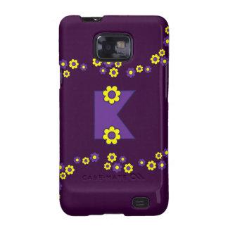 Letter K in Flores Purple Monogram Samsung Galaxy S Case