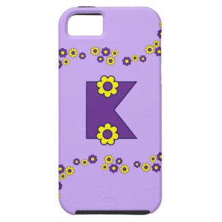 Letter K in Flores Purple Monogram Tough iPhone 5 Case