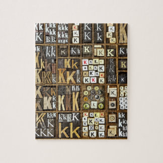 Letter K Jigsaw Puzzle