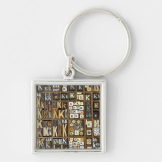 Letter K Key Ring